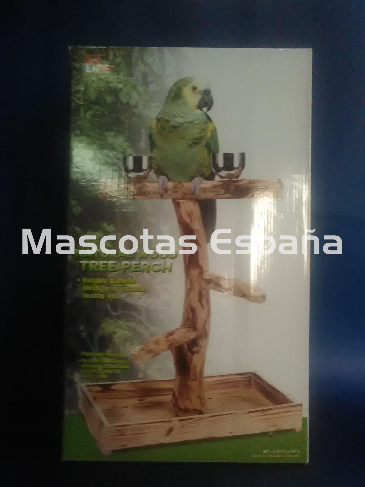 SAN DIMAS Penn-Plax Natural Wood Tree Perch (Reposa Aves Madera) - Imagen 1